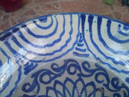 Antigüedades: antigua fuente de fajalauza, pintada a mano. - Foto 3 - 35351826