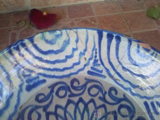 Antigüedades: antigua fuente de fajalauza, pintada a mano. - Foto 4 - 35351826