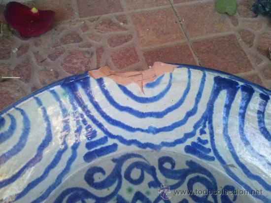 Antigüedades: antigua fuente de fajalauza, pintada a mano. - Foto 5 - 35351826
