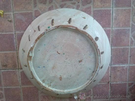 Antigüedades: antigua fuente de fajalauza, pintada a mano. - Foto 6 - 35351826