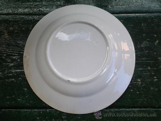 Antigüedades: antiguo plato mariano pola, gijon, sello inciso. - Foto 3 - 86629300