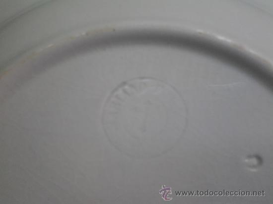 Antigüedades: antiguo plato mariano pola, gijon, sello inciso. - Foto 4 - 86629300