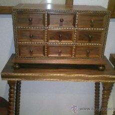 Antigüedades: BARGUEÑO DE NOGAL. Lote 35363804