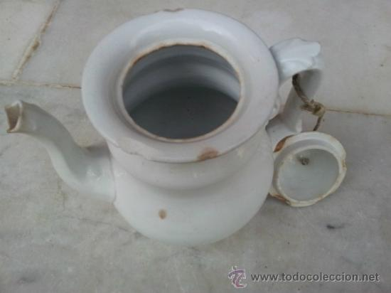 Antigüedades: Antigua tetera de porcelana blanca siglo XIX - Foto 6 - 35438761