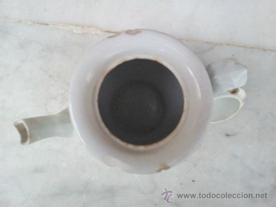 Antigüedades: Antigua tetera de porcelana blanca siglo XIX - Foto 5 - 35438761