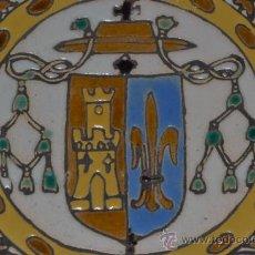 Antigüedades: PRECIOSO PLATO ANTIGUO DECORADO A CUERDA SECA EN CERAMICA DE TRIANA,(SEVILLA). Lote 35395921