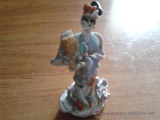 ANTIGUA FIGURA PORCELANA (Antigüedades - Porcelanas y Cerámicas - China)