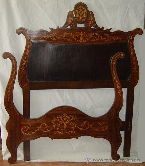 Pareja de camas estilo isabelino comprar camas antiguas for Camas estilo vintage