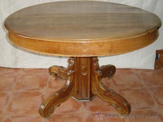 Mesa isabelina extensible madera de nogal sig comprar - Mesas antiguas ...