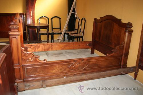 Antigüedades: CAMA LUIS FELIPE NOGAL REF.5372 - Foto 2 - 35427919