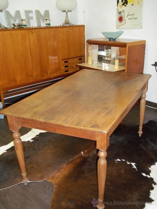 Mesa de comedor pino pata vela s.xix 145x83 - Verkauft durch ...