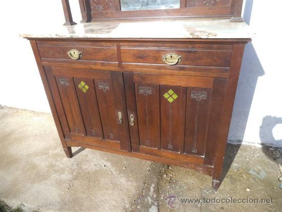 Antigüedades: mueble aparados artenova con azulejos en las puertas - Foto 2 - 35426317