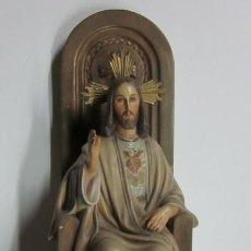 Antigüedades: IMAGEN SAGRADO CORAZON DE JESUS. Lote 35443607