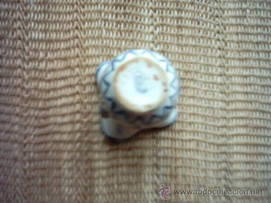 Antigüedades: ANTIGUA JARRA CON CUATRO BOCAS DE CERÁMICA. PAISAJES PINTADOS EN 4 COLORES. 10,5 Cm. - Foto 3 - 35455832
