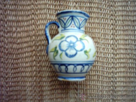 ANTIGUA JARRA DE CERÁMICA PINTADA EN 3 COLORES. 9,5 CM. (Antigüedades - Porcelanas y Cerámicas - Otras)
