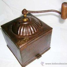 Antigüedades: ANTIGUO Y RARO MOLINILLO DE CAFE TODO METALICO, A RESTAURAR. Lote 35458713