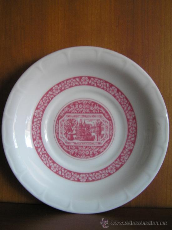 Antigüedades: JUEGO de porcelana HEINRICH Germany. Decorada en color malva. 1860. - Foto 2 - 35462093