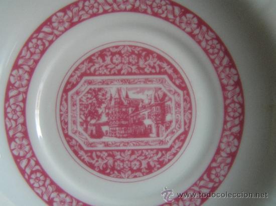 Antigüedades: JUEGO de porcelana HEINRICH Germany. Decorada en color malva. 1860. - Foto 3 - 35462093