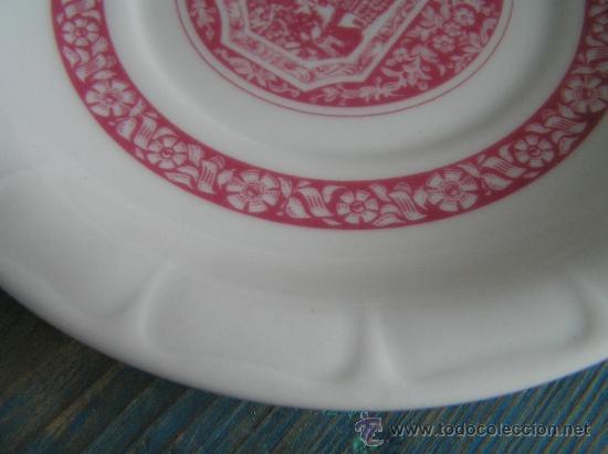 Antigüedades: JUEGO de porcelana HEINRICH Germany. Decorada en color malva. 1860. - Foto 4 - 35462093