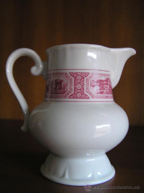 Antigüedades: JUEGO de porcelana HEINRICH Germany. Decorada en color malva. 1860. - Foto 6 - 35462093