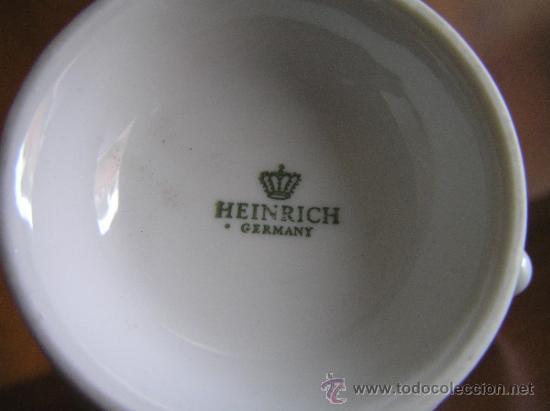 Antigüedades: JUEGO de porcelana HEINRICH Germany. Decorada en color malva. 1860. - Foto 18 - 35462093
