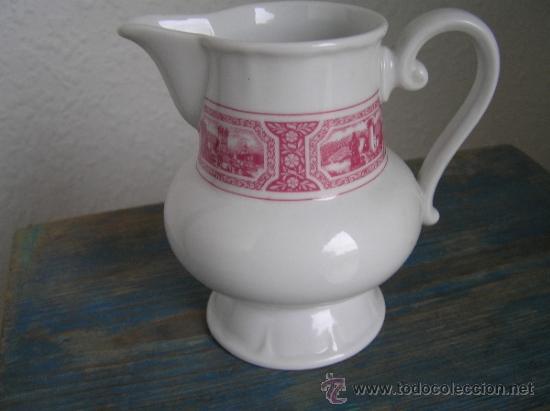 Antigüedades: JUEGO de porcelana HEINRICH Germany. Decorada en color malva. 1860. - Foto 7 - 35462093