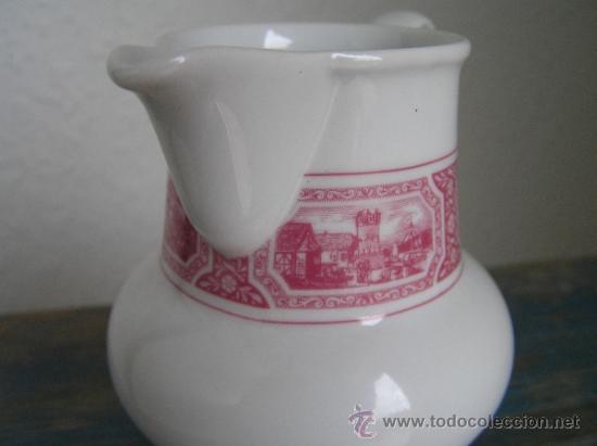 Antigüedades: JUEGO de porcelana HEINRICH Germany. Decorada en color malva. 1860. - Foto 10 - 35462093