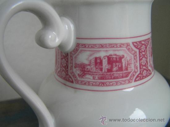 Antigüedades: JUEGO de porcelana HEINRICH Germany. Decorada en color malva. 1860. - Foto 9 - 35462093