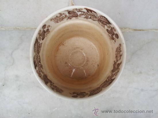 Antigüedades: Antigua y bonita maceta con marca La Cartuja Sevilla Pickman - Foto 2 - 35486384