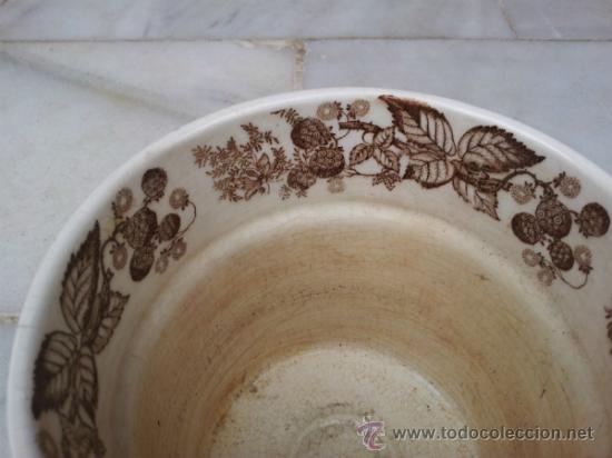 Antigüedades: Antigua y bonita maceta con marca La Cartuja Sevilla Pickman - Foto 3 - 35486384