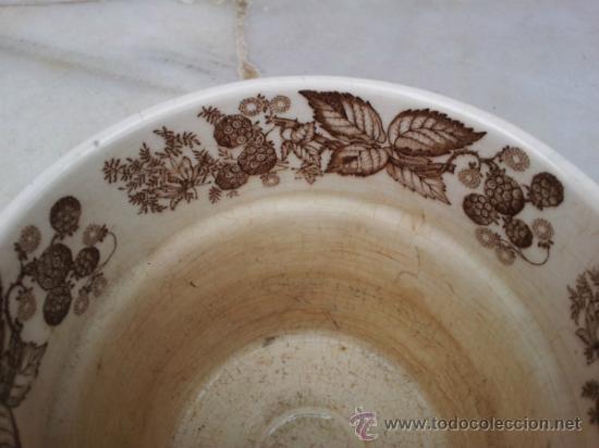 Antigüedades: Antigua y bonita maceta con marca La Cartuja Sevilla Pickman - Foto 4 - 35486384