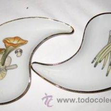 Antigüedades: PLATITOS PARA APERITIVOS.. Lote 35479088