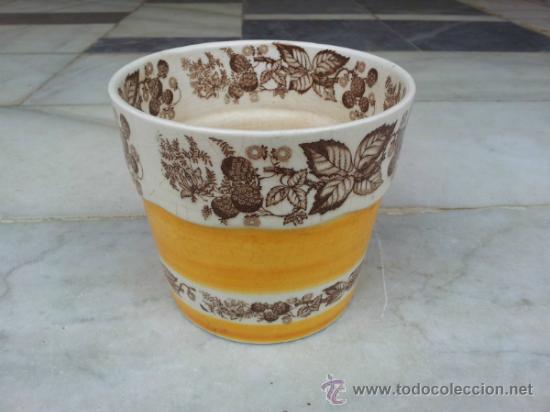 ANTIGUA Y BONITA MACETA CON MARCA LA CARTUJA SEVILLA PICKMAN (Antigüedades - Porcelanas y Cerámicas - La Cartuja Pickman)