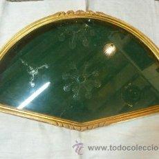 Antigüedades: ABANIQUERA DE MADERA EN PAN DE ORO. Lote 35502504