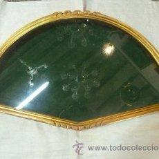 Antigüedades: ABANIQUERA DE MADERA EN PAN DE ORO. Lote 35502536