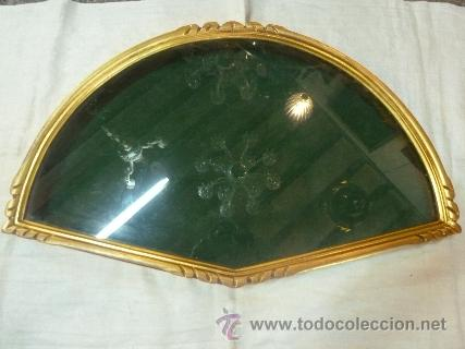 ABANIQUERA DE MADERA EN PAN DE ORO (Antigüedades - Varios)