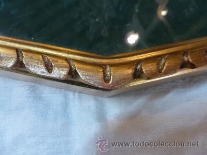 Antigüedades: abaniquera de madera en pan de oro - Foto 2 - 42137845