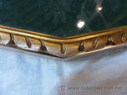 Antigüedades: abaniquera de madera en pan de oro - Foto 3 - 48100206