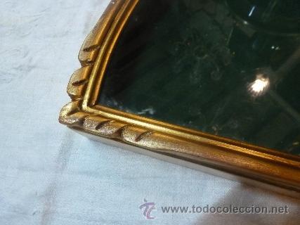 Antigüedades: abaniquera de madera en pan de oro - Foto 4 - 42137845
