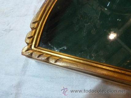 Antigüedades: abaniquera de madera en pan de oro - Foto 2 - 35502856