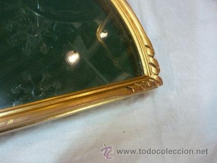 Antigüedades: abaniquera de madera en pan de oro - Foto 4 - 48100206