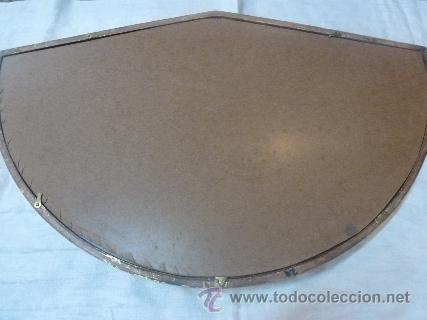 Antigüedades: abaniquera de madera en pan de oro - Foto 3 - 35502856