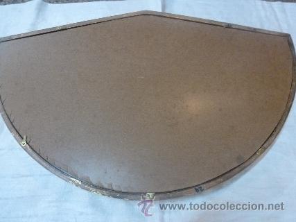 Antigüedades: abaniquera de madera en pan de oro - Foto 2 - 48100206