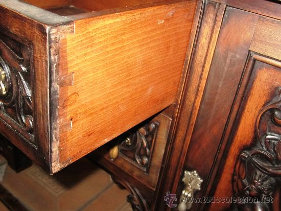 Antigüedades: PROMOCION, PRECIOSO Y ELEGANTE MUEBLE AUXILIAR BUFET COMODA APARADOR ESTILO RENACIMIENTO - Foto 9 - 35513049