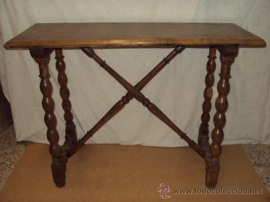 Bonita mesa de nogal para bargue o o consola de comprar - Mesas de recibidor antiguas ...