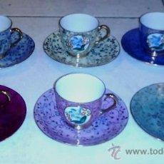 Antigüedades: JUEGO DE CAFÉ EN PORCELANA FINA CHINESA. Lote 35515123