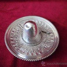 Antigüedades: SOMBRERO DE PLATA 925 MEXICO . Lote 101033635