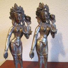 Antigüedades: PAREJA DE FIGURAS INDU. Lote 36308111