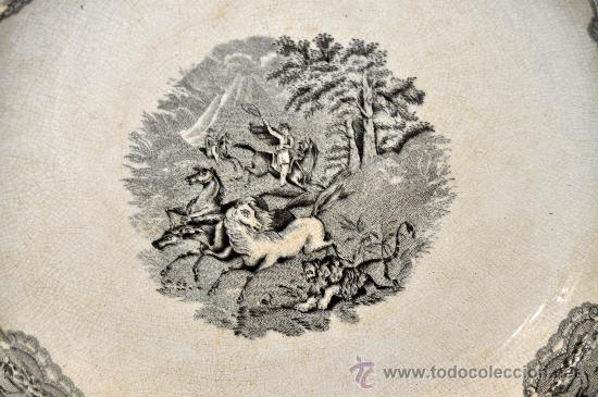 Antigüedades: GRAN FUENTE EN CERÁMICA DE CARTAGENA CON VARIOS SELLOS. SIGLO XIX. 36 CM. DIÁMETRO - Foto 13 - 36018179