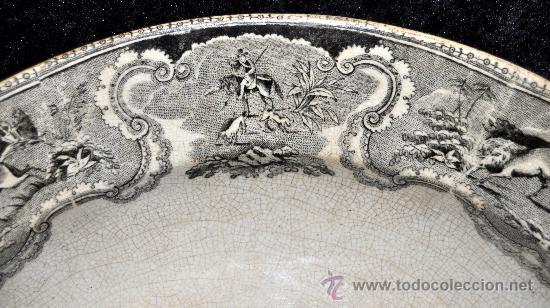 Antigüedades: GRAN FUENTE EN CERÁMICA DE CARTAGENA CON VARIOS SELLOS. SIGLO XIX. 36 CM. DIÁMETRO - Foto 12 - 36018179